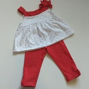 Gymboree Red, White and Stars Outfit * Size 12-18m
